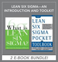 Lean Six Sigma   An Introduction and Toolkit  EBOOK BUNDLE  PDF