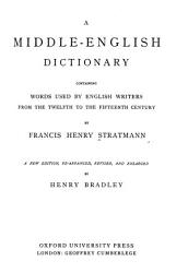 A Middle English Dictionary PDF
