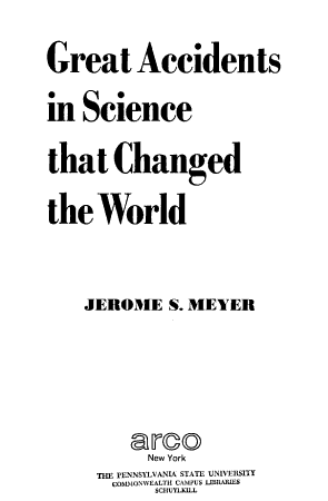 Great Accidents in Science that Changed the World PDF