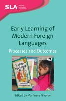 Early Learning of Modern Foreign Languages PDF