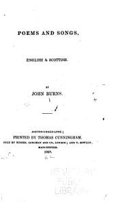 Poems and Songs, English & Scottish