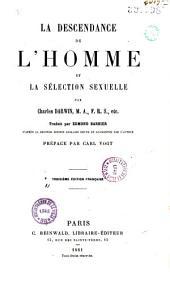 La descendance de l'homme et la sélection sexuelle