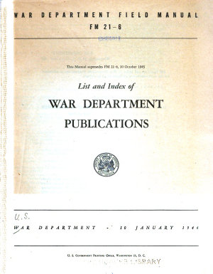 List and Index of War Department Publications