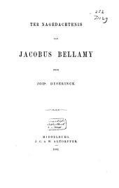 Ter nagedachtenis van Jacobus Bellamy