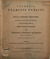 Animadversiones critico-exegeticae in nonnulla loca Ciceronis lib. I. de Oratore