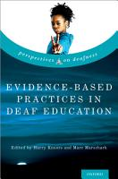 Evidence Based Practices in Deaf Education PDF