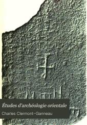 Études d'archéologie orientale: Numéro113