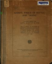 """Raising Wreck of Battleship """"Maine."""""""