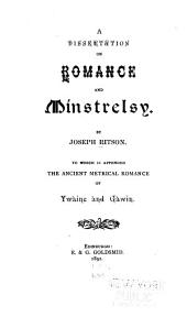 A Dissertation on Romance and Minstrelsy