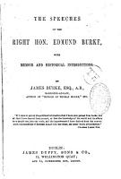 The Speeches of the Right Honourable Edmund Burke PDF