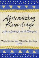 Africanizing Knowledge PDF