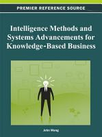 Intelligence Methods and Systems Advancements for Knowledge Based Business PDF