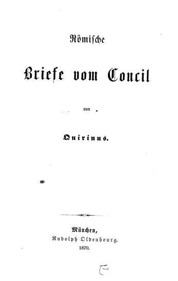 R  mische Briefe vom Concil PDF