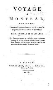 Voyage à Montbar, contenant des détails très-intéressans sur le caractère, le personne et les écrits de Buffon ... Ouvrage ... Suivi de réflexions sur la déclamation, d'un élogé d'A. Auger, et d'autres morceaux de littérature du même auteur
