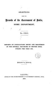 SELECTIONS FROM THE RECORDS OF THE GOVERNMENT  OF INDIA PDF