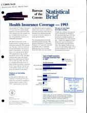Health insurance coverage, 1993
