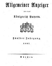 Allgemeiner Anzeiger für das Königreich Bayern: Gerichtliche und polizeyliche Bekanntmachungen, Band 5