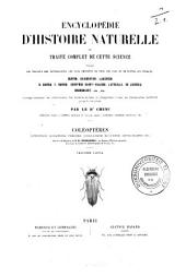 Encyclopédie d'histoire naturelle ou Traité complet de cette science, d'après les travaux des naturalistes les plus éminents de tous les pays et de toutes les époques: Coléoptères, Volume3