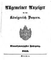 Allgemeiner Anzeiger für das Königreich Bayern: Gerichtliche und polizeyliche Bekanntmachungen, Band 21