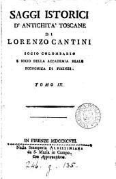 Saggi istorici d'antichità toscane