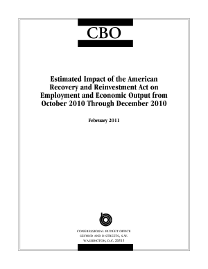 Estimated Impact of the American Recovery and Reinvestment Act on Employment and Economic Output from October 2010 Through December 2010 PDF