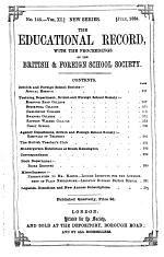The Educational record, with the proceedings at large of the British and foreign school society