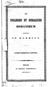 De collegiis et sodaliciis Romanorum