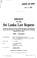 The Sri Lanka Law Reports PDF