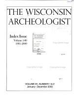The Wisconsin Archeologist PDF