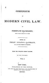 Compendium of Modern Civil Law: Volume 1