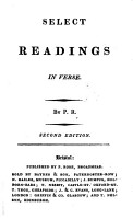Select readings in verse  by P R  PDF
