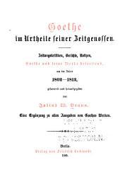 Goethe im Urtheile seiner Zeitgenossen: Bd. 1802-1812