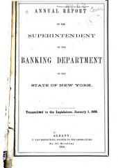 Annual Report of the Superintendent of the Banking Department of the State of New York