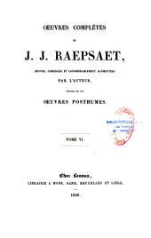 Oeuvres complètes de J. J. Raepsaet