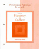 Workbook Anthology for use with Harmony in Context PDF