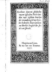 Excellente figueren ghesneden uuyten uppersten poëte Ovidius uuyt vyfthien boucken der veranderinghe met huerlier bedietsele