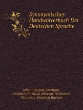 Synonymisches Handw?rterbuch Der Deutschen Sprache