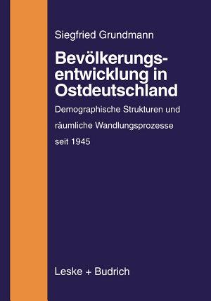 Bev  lkerungsentwicklung in Ostdeutschland PDF
