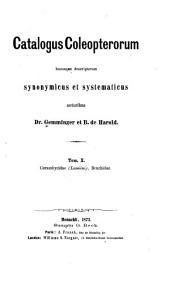 Catalogus coleopterorum hucusque descriptorum synonymicus et systematicus: Volumes 10-11