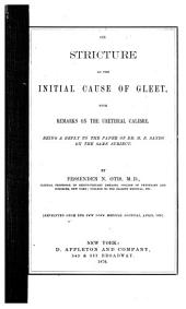 On stricture as the initial cause of gleet
