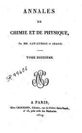 Annales de chimie et de physique: Volume12