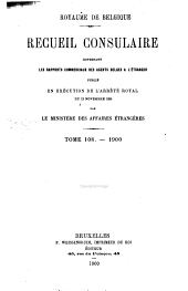 Recueil Consulaire Contenant les Rapports Commerciaux des Agents Belges à L'Étranger: Volume108