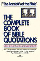 Complete Book of Bible Quotations PDF