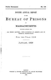 Annual Report of the Bureau of Prisons of Massachusetts ...: Volume 4