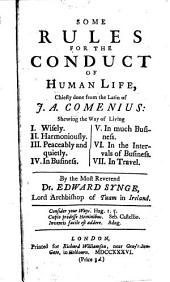 Some Rules For The Conduct Of Human Life