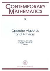 Operator Algebras and $K$-Theory