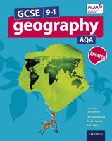 GCSE 9 1 Geography AQA  GCSE Geography AQA Student Book PDF