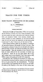 Bishop Wilson's meditations on his sacred office. No. 5. [Continued from tract 50.]