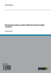 """Die Kategorien Raum und Zeit in Miroslav Krlezas Einakter """"Kraljevo"""""""