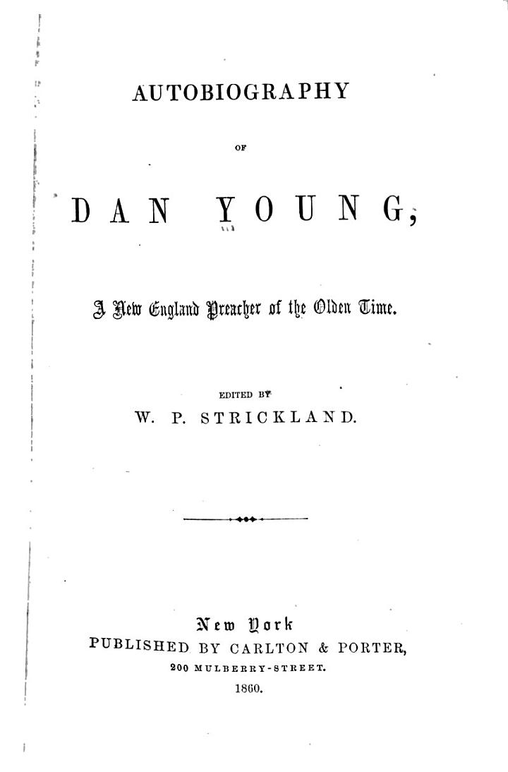 Autobiography of Dan Young